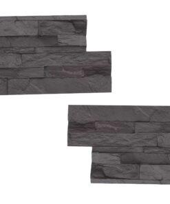STAMP Lámaný kameň SET 2ks - 2 raznice na výrobu obkladu lámaného kameňa lk1 + lk1 2x 39x 19 cm