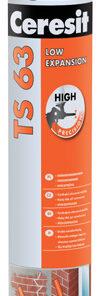 Montážna pena Ceresit TS63 nízkoexpanzná pištoľová 750 ml