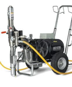 HeavyCoat 970 + SSP elektrický pohon - Hydraulické piestové zariadenie - Vozík striekacie zariadenie vozík