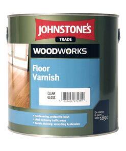 Johnstones Floor Varnish - rýchloschnúci lak na podlahy 5 l bezfarebný satén