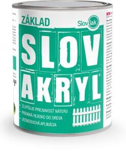 Farba Slovakryl Základ - základná farba na drevo 0