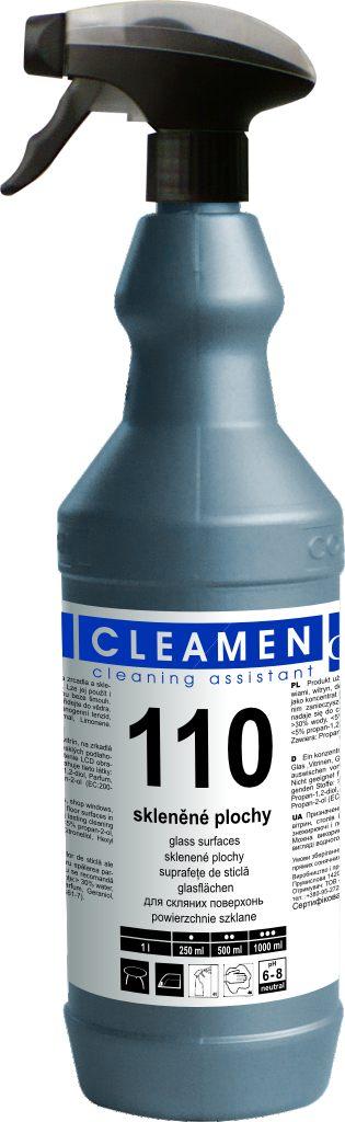 CLEAMEN 110 – koncentrát na umývanie sklenených plôch s rozprašovačom 1 l