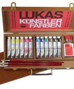 LUKAS Olejové farby STUDIO - balenie v drevenom kufríku súprava 12x20 ml