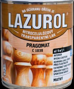 LAZUROL PRAGOMAT C 1038 - MATNÝ acetónový lak 4 l bezfarebný - matný