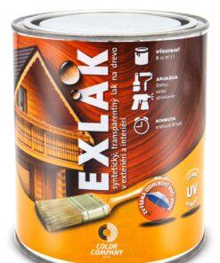 Lak Exlak - bezfarebný vonkajší lak na drevo bezfarebný matný 5 l