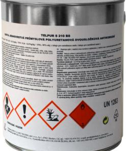 TELPUR S210BS - 2v1 matná polyuretánová kováčska farba 4 kg kováčska čierna