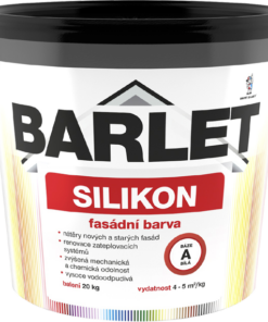 V 4018 BARLET fasádna silikónová farba 20 kg miešanie