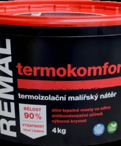 REMAL TERMOKOMFORT - termoizolačná farba na steny 4 kg termoizolačná biela