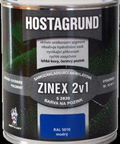 HOSTAGRUND ZINEX S2820 - farba 2v1 na ľahké kovy ral 9010 - biela 4 l