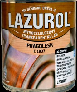 LAZUROL PRAGOLESK C 1037 - LESKLÝ acetónový lak 4 l bezfarebný - lesklý
