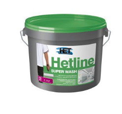 HETLINE SUPER WASH Vysoko umývateľná farba 12 kg biela polomatná