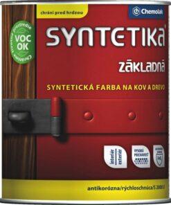 Syntetika S 2000 U - základná antikorózna farba na kov 9 l 0840 - červenohnedá
