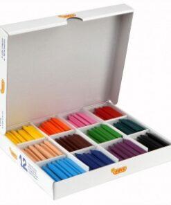 Voskovky  trojhranné - MAXI balenie 12 farieb 300 ks