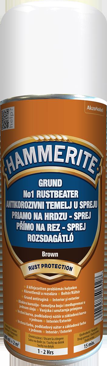 Hammerite Antikorózny sprej Hnedá