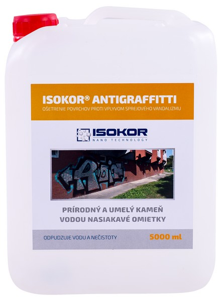 ISOKOR ANTIGRAFFITTI - nanotechnologická ochrana budov 5 l