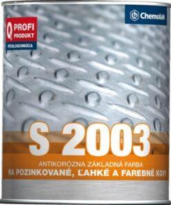 S 2003 Základná syntetická farba na ľahké kovy 9 l 606