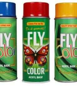 FLY COLOR - akrylová farba v spreji 400 ml ral 9016 - dopravná biela