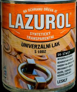 Lazurol S 1002 - Syntetický lak na drevo a lak na kov 4 l 1 - bezfarebný - matný