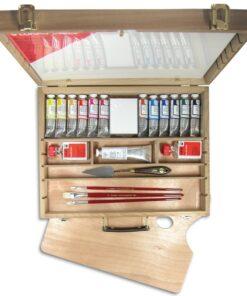 LUKAS Olejové farby STUDIO - sada s príslušenstvom v kufríku súprava 12x37 ml
