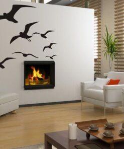 Šablóna na stenu - Vtáky 3069x od 10do40cm