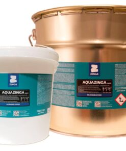 ZINGA Aquazinga - dvojzložkový zinkový náter do 600°C  a galvanickými vlastnosťami 5 kg kovovo šedá