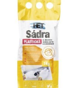 HET Sadra plastická 1 kg biela