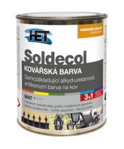 SOLDECOL Kováčska farba 10 l kovovo sivá