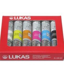 LUKAS Akrylové farby STUDIO - balenie v papierovej krabičke sada 6x20 ml