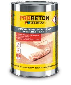 Trexon H-2003 - základná chemicky odolná farba na betón 9 l šedá stredná