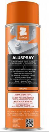 ZINGA Aluspray - metalický lak  500 ml hliníkový