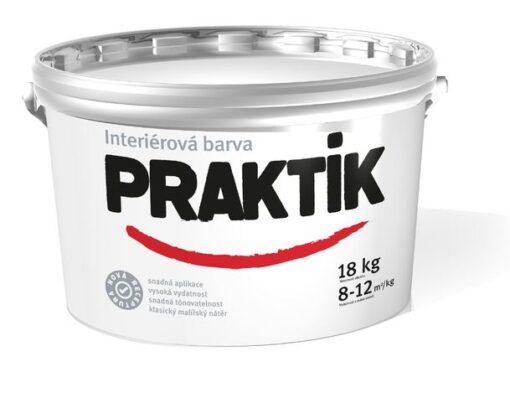 Praktik - ekonomická interiérová farba na steny biela 40 kg