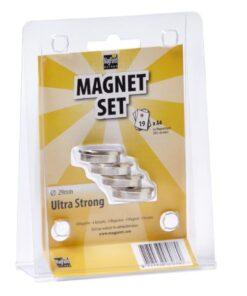 Ultrasilné neodymové magnety - sada 4ks 23 mm