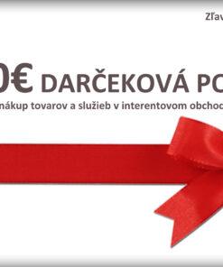 100€ Darčeková poukážka na nákup tovaru a služieb