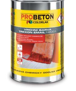 Trexon Email H-2001 -chemicky odolná farba na betón žltá 9 l