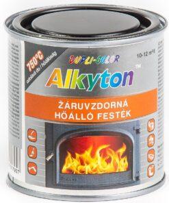 ALKYTON žiaruvzdorný 750°C - farba odolná vysokým teplotám strieborná 750 ml
