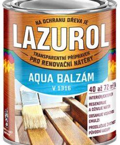 LAZUROL AQUA BALZAM - prípravok na predĺženie životnosti lazúry bezfarebný 0