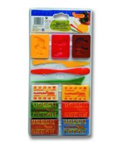 JOVI Plastelína - s formičkami ai modelovacími nožmi 6x50 g