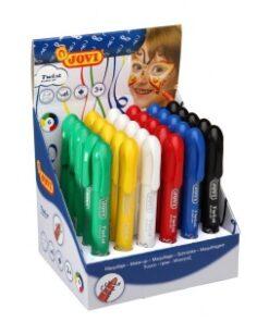 JOVI farby na tvár sada 30ks - perá v 6 farbách 6