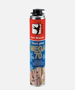 Zimná pištoľová pena Mega 70 žltá 870 ml