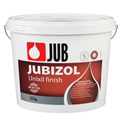 JUBIZOL Unixil finish winter S - siloxanová dekotarívna hladená omietka 25 kg zr. 1