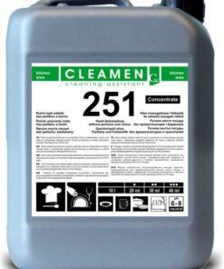 Ručné bezparfémové umývanie riadu koncentrát - CLEAMEN 251  1 l