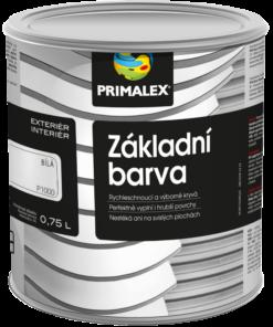 Primalex - základná farba na drevo 1000 - biela 5 l
