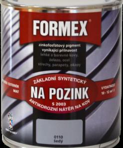 FORMEX S 2003 - základná farba na pozink 0110 - šedý 9 l