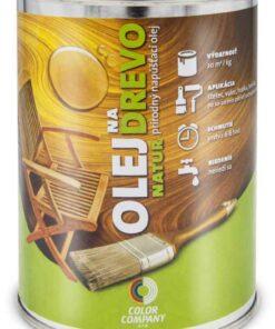 Olej na drevo NATUR - prírodný napúšťací olej teak 0