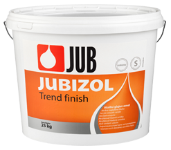 JUBIZOL Trend finish S - siloxanová dekoratívna hladená omietka 25 kg zr. 2mm - intenzív