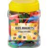 Magnety v sade - detské čísla červený