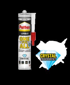 Pattex ONE FOR ALL CRYSTAL Montážne číre lepidlo 290 ml