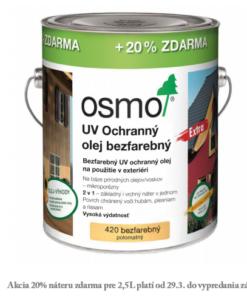 OSMO UV Ochranný olej 420 - prírodny olej s biocidom 25 l 420 - bezfarebný extra